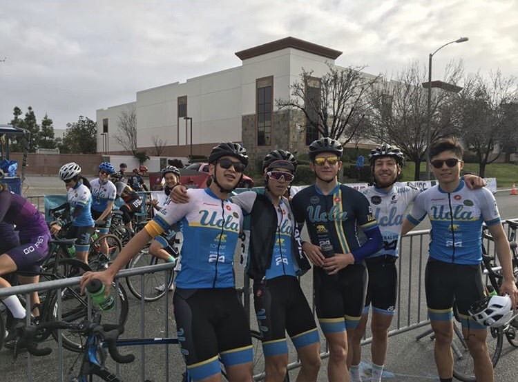 Our teammates showing us some love & support before our race at the USC Crit, 3/3/19